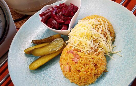 Zapečené rizoto s kuřecím masem