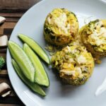 Krémové brokolicové rizoto s kuřecím masem a žampiony