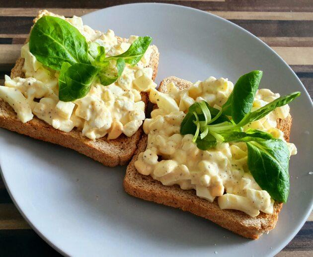 zdravá vajíčková pomazánka
